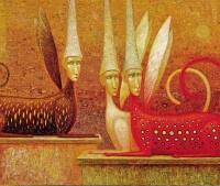 Arūno Žilio paveikslas - sfinksai