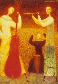 Arūno Žilio paveikslas - Muzikantai
