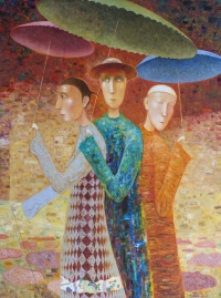 Arūno Žilio paveikslas - lietaus belaukiant